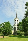 image of tsarskoe  - Belfry of the Sophia Cathedral in Tsarskoe Selo built by the architect Cameron in the late eighteenth century - JPG