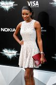 NEW YORK-JULY 16: Miss Universe Leila Lopes attends the world premiere of