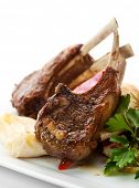 foto of pickled vegetables  - Roasted Lamb Chops with Vegetables - JPG