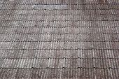 pic of asbestos  - close up texture on corrugated asbestos roof of factory - JPG