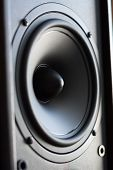 stock photo of subwoofer  - Powerful audio system - JPG
