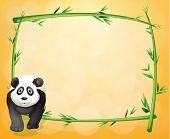 Постер, плакат: Иллюстрация пустой бланк с кадра бамбука и панда