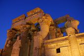 stock photo of ptolemaic  - Temple of Kom Ombo at dusk Located in Aswan Egypt - JPG