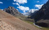 image of ravines  - Scenery of ravine in Tien Shan mountains - JPG