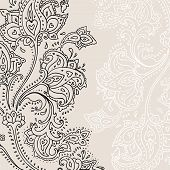image of henna tattoo  - Paisley background - JPG