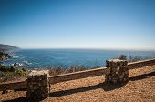 stock photo of bixby  - Highway one coastline with beautiful view on pacific ozean - JPG