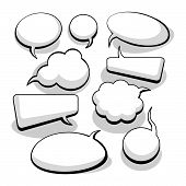 stock photo of text-box  - Speech And Thought Bubbles With Space For Text - JPG
