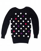 Black Sweater With A Pattern Of Polka Dots