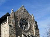 stock photo of boise  - Cathedral of the Rockies Methodist church was constructed during 1960 in Boise - JPG