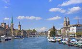stock photo of zurich  - Zurich cityscape  - JPG