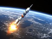 pic of spaceman  - Carrier rocket  - JPG