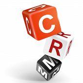 foto of customer relationship management  - vector 3d dice with word CRM Customer Relationship Management on white background - JPG