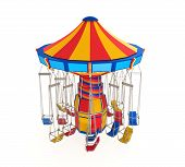 foto of swingers  - Carnival Swing Ride isolated on white background - JPG