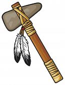 stock photo of cree  - native american tomahawk vector - JPG
