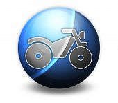 stock photo of four-wheelers  - Image Graphic Icon Button Pictogram with ATV symbol - JPG