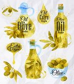 ������, ������: Watercolor Drawn Olive Oil