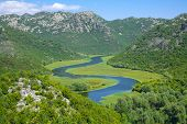 pic of curvy  - a curvy stretch of Crnojevica River in Skadar Lake National Park - JPG