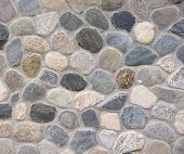 foto of gneiss  - Old colorful stone wall closeup in sunny day - JPG