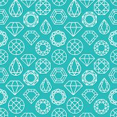 Постер, плакат: Vector Seamless Pattern With Diamonds