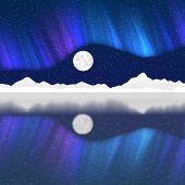 picture of arctic landscape  - Arctic pole landscape generated hires texture background - JPG