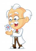 picture of professor  - Vector Picture of a Professor Cartoon Character with an Atom - JPG