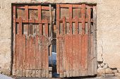picture of front-entry  - Backyard old wooden door - JPG