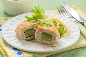 picture of laying eggs  - Chicken cutlet stuffed with avocado  - JPG