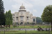 stock photo of vidhana soudha  - Trees in front of a government building - JPG