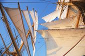 stock photo of tall ship  - Sail of a clipper ship - JPG