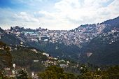 pic of himachal pradesh  - High angle view of buildings on a mountain - JPG