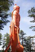 stock photo of hanuman  - Lord Hanuman statue at Jakhoo Temple - JPG