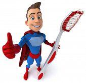 stock photo of animated cartoon  - Fun superhero - JPG