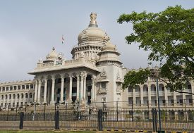 stock photo of vidhana soudha  - Government building - JPG