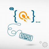picture of human egg  - Sperms and egg icon and flat design elements - JPG