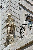 picture of stone sculpture  - Detail of decor in Avignon architecture - JPG