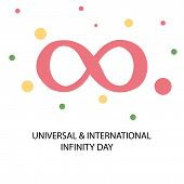 foto of infinity  - illustration of colorful infinity symbol for Universal And International Infinity Day - JPG