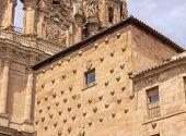 foto of stone house  - Stone House of Scallop Shells Casa de la Conchas Salamanca Castile Spain - JPG
