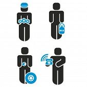 foto of milkman  - A set of 4 profession icons series - JPG