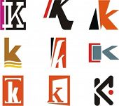 stock photo of letter k  - Alphabetical Logo Design Concepts - JPG