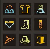 image of clothes hanger  - Trade and merchandise icons set - JPG