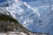 Avalanche - Mount Cook - New Zealand poster