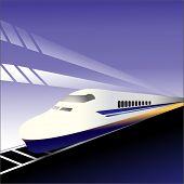 stock photo of motor coach  - Fast train 1 - JPG