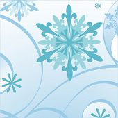 foto of fleur de lis  - blue decorative snowflake - JPG