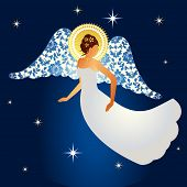 pic of divine mercy  - Angel with damask pattern on  wings - JPG