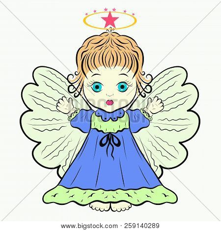 poster of Little Cute Angel With A Halo Easter