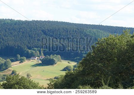 poster of Beautiful Landscape In The North Eifel In Germany.