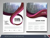 Red Annual Report Brochure Flyer Design Template. Leaflet Cover Presentation Abstract Background For poster