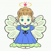 Little Cute Angel With A Halo Easter poster
