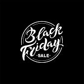 Black Friday Text For Banner, Logo, Badge, Web, Poster. Discount Time. Handwritten Lettering Black F poster