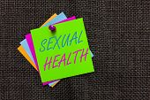 Word Writing Text Sexual Health. Business Concept For Healthier Body Satisfying Sexual Life Positive poster